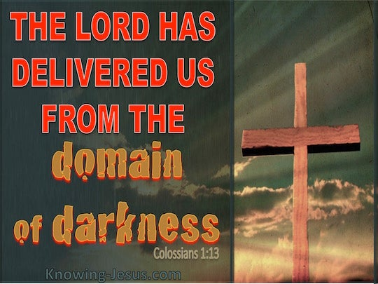 colossians 113 for he rescued us from the domain of