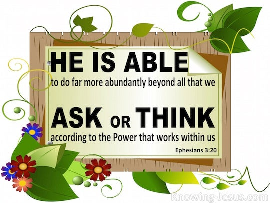 Image result for ephesians 3:20
