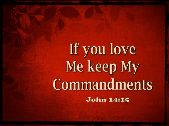 John 14 15 Quot If You Love Me You Will Keep My Commandments