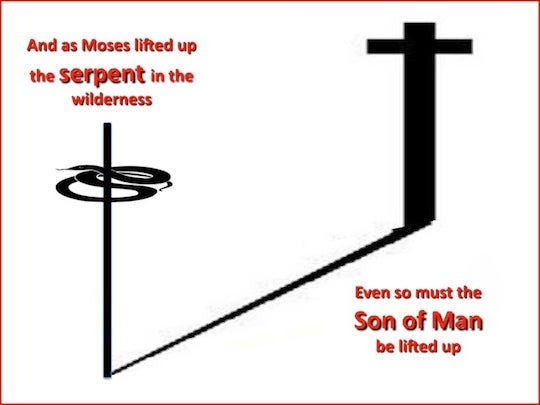 John 314 As Moses Lifted Up The Serpent In The Wilderness Even So