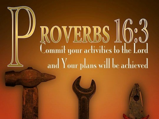 proverbs 16 3 commit your works to the lord and your plans
